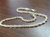 Gold Rope 2.2mm  Bracelet 10K Yellow Gold 2.3g
